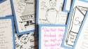 Doodle and rhyming plugs from Edinburgh Fringe 2014